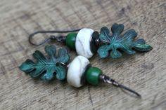 Leaf earrings https://www.etsy.com/shop/Tribalis