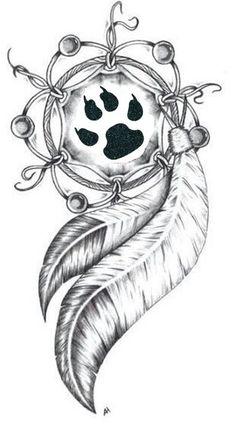 Centre d'impression patte – Tattoo Ideen – Pfotenabdruckzentrum – Tattoo Ideen – Wolf Tattoos, Feather Tattoos, Cute Tattoos, Bear Paw Tattoos, Fish Tattoos, Wolf Tattoo Design, Tattoo Designs, Art Drawings Sketches, Tattoo Sketches