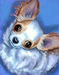 Chihuahua Dog Art 8X10 Print Painting by Dottie by DottieDracos