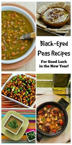 Black-Eyed Peas are delicious, and if you cook them on New Year's Day you're guaranteed Good Luck in the New Year! [from KalynsKitchen.com] #BlackEyedPeas