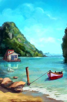 The harbor on Behance