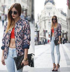 Suiteblanco Jacket, Zara Jeans - CROPED TOP + JEANS - Andrea Gomez