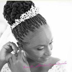 50 Superb Black Wedding Hairstyles | Box braids updo, Updo and Wedding
