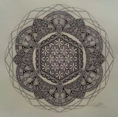 I love the flower of life in this.