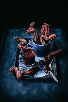 Chocolate dipped Churros…sound sooo good