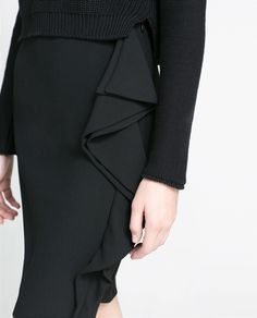 PENCIL SKIRT WITH RUFFLE - Skirts - Woman | ZARA Germany