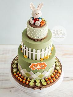 Harry the Bunny 1st birthday cake | by De La Creme Studio