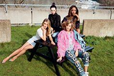 Karlie Kloss poses with supermodels of the South Bank for Vogue - Celebrity News - Showbiz - London Evening Standard