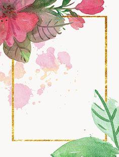 Floral Flor Frame Pink Antecedentes