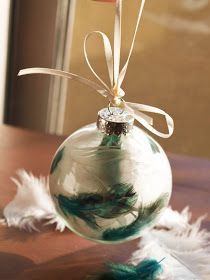 Cook~Love~Craft: Feather Christmas Ornaments!