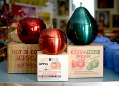 "Vintage anodised apple, pear icebucket collection awsome from the ""good ol. times"""