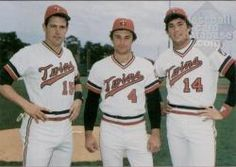 Tim Laudner, Jimmy Eisenreich, Kent Hrbek.  Booked as Minnesota Twins Native Sons