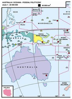 36. Australia i Oceania – podział polityczny