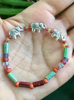 elephant bracelet, stretch bracelet, elephant anklet, summer bracelet, gift for girl, friend gift, gift for woman, unisex, handmade gift