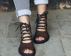 Chaussures d'été à la main pour femmes, chaussures plates, chaussures occasionnelles, sandale, rétro chaussures Oxford, chaussures en cuir de style Vintage, chaussures personnel