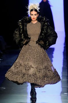 Jean Paul Gaultier love the top and skirt sans the outrageous jacket
