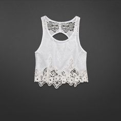5fd58f17d4ae01 Cropped Mallory Top in white from Abercrombie & Fitch. Love there tops!