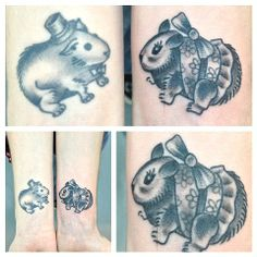 felix- white rabbit tattoo.