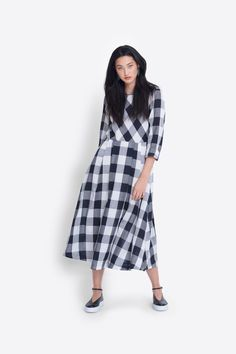Isa Dress by ELK: Designed in Melbourne Pleated Skirt, Midi Skirt, Calf Length Dress, Check Fabric, Drip Dry, Dresses Online, Your Style, Duster Coat, Elk