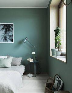 Chambre vert-bleu
