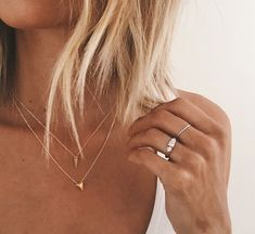 you can and you will pyramid necklace, gold dipped Simple Jewelry, Dainty Jewelry, Gold Jewelry, Jewelery, Jewelry Accessories, Fashion Accessories, Jewelry Necklaces, Fashion Jewelry, Stacked Necklaces