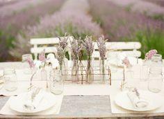 lavender centertable | Lavender Provencal Wedding http://theproposalwedding.blogspot.it/ #lavanda #lavender wedding #matrimonio #spring #primavera