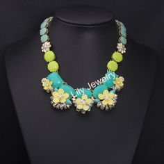 Fashion Gemstone Statement Necklace Jewelry by Attractivenecklace, $16.00