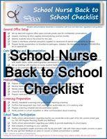 School Nurse Back to School Checklist