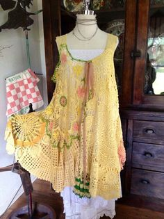 Luv Lucy crochet dress Lucy's Sunny Skies by TheVintageRaven, $195.00