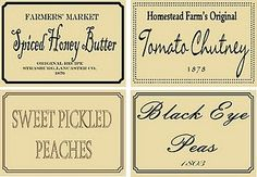 primitive jar labels