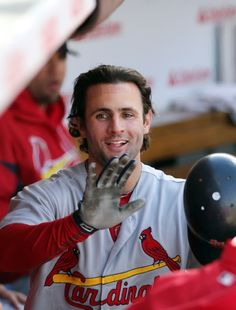 Pete Kozma had to give air high fives after hitting his first MLB home run and getting the silent treatment. :)  9-23-12