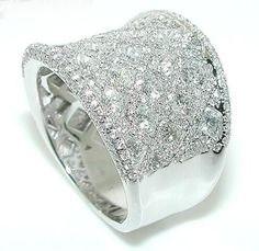 CT WIDE Diamond Wedding Band Ring Rounds in Jewelry & Watches, Engagement & Wedding, Wedding & Anniversary Bands Wide Diamond Wedding Bands, Diamond Bands, Wedding Ring Bands, Diamond Engagement Rings, Diamond Jewelry, Right Hand Rings, Bridal Bracelet, Diamond Are A Girls Best Friend, Band Rings