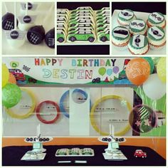 Mini Cooper party / Mini Cooper dessert table /cookies/cake pops