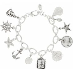 Anchors Away Charm Bracelet  available at #Brighton