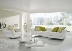 Wineo Laminat 550 White hochglänzend Living Room Modern, Living Room Designs, Living Room Decor, Floor Design, House Design, Esstisch Design, Dining Table Design, White Decor, Luxury Living