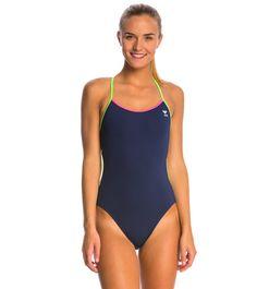 5c1ba6da854f7 TYR Solid Brites Pink Trinityfit One Piece Swimsuit