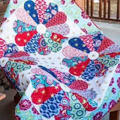 Free Quilt Pattern featuring La Vie Boheme fabric designed by The Quilted Fish for Riley Blake Designs
