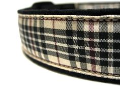 Tartan Tan Black and Red/Auburn Plaid Dog by ClementineCollars