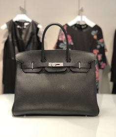 803535840471 2005 Black Leather/ Palladium Hardware Clemence Hermes Birkin 35 Call  215.794.0422 for details