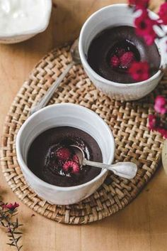 Homegrown Kitchen's Double Chocolate Raspberry Puddings - Viva