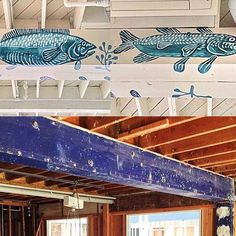 """""""Make Ugly Exposed Beams Great Again"""" . Special thanks to our mom and interiors extraordinaire @ninienorris @ryanclawson and @abelmac for the beautiful Indigo Scrimshaw Carving . Our second California location #fahertylido coming later this summer."""