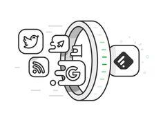 Feedly - Portal illustration by Andrew McKay #Design Popular #Dribbble #shots