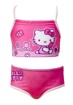 Hello Kitty Pink 2P Swimsuit New Arrivals...Girls Swimsuits, Disney, Hello Kitty & More. Get 20% off on your shopping at www.Klassywear.com