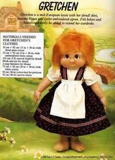 Мобильный LiveInternet Куколки (с выкройками) | Наталия-379 - Дневник Наталия-379 |