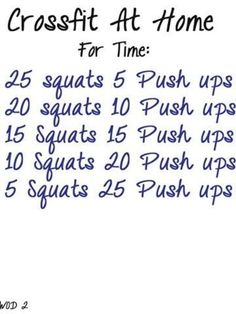 Image result for CrossFit at Home Workout Routine