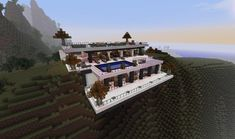 Minecraft House Decoration Ideas Fresh Cliffside House Ideas that Will Bring Out Your Inner Cool Modern Minecraft Houses, Casa Medieval Minecraft, Minecraft Mansion, Minecraft Houses Blueprints, Cool Minecraft, House Blueprints, Minecraft Buildings, Minecraft Seed, Minecraft Skins