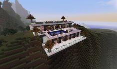 minecraft desert homes | Modern Minecraft Cliffside Mansion | minecraft mansion
