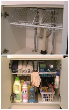 Camper Organization Travel Trailers Hacks Inspirations 60 Diy Rv Camping Storage Hacks And Solutions 47 Camping - Lifestyle & Interior Design Trends Rv Bathroom, Bathroom Storage, Bathroom Ideas, Bathroom Cabinets, Bathroom Vanities, Kitchen Cabinetry, Bathroom Vanity Organization, Bathroom Pink, Budget Bathroom