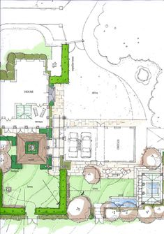 landscaping sketch