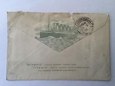 Rare Original White Star Line Envelope Titanic & Olympic postmark dated Jan 1912 Titanic, Line, Olympics, Envelope, Dating, The Originals, Stars, Antiques, Ebay